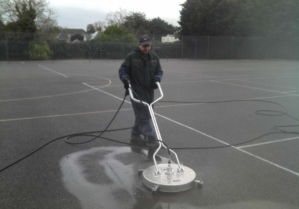 sports surface cleaning